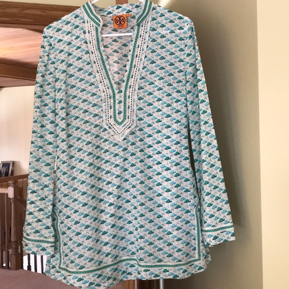 184121413b0a Tory Burch Tops - Tory BURCH flamingo tunic top - size 10